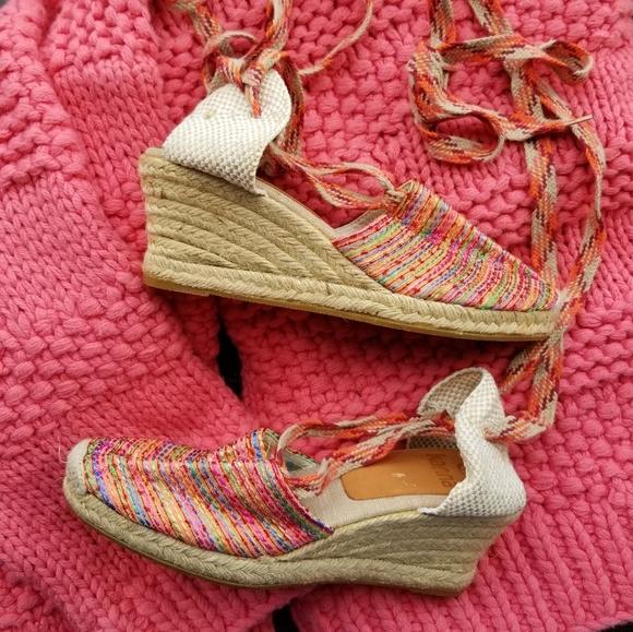 Kanna Shoes Rainbow Wedges Ballet Tie Espadrilles 65 Poshmark
